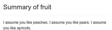 Screenshot of for_fruit example