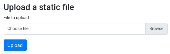 Upload a static file